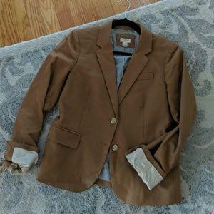 J crew rich brown school boy blazer
